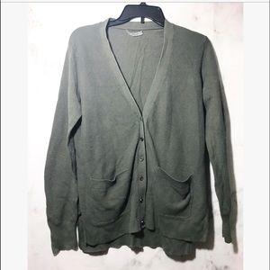 Madewell • dark green cardigan